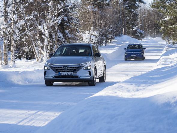Hyundai NEXO a Kona Electric zvládnou i extrémní podmínky u severního polárního kruhu