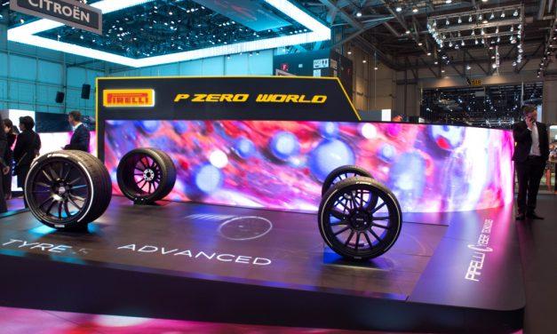 Pneumatiky Pirelli na autosalonu v Ženevě