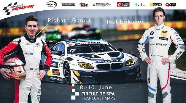 Šenkýř Motorsport v top sestavě na GT Open do Spa Francorchamps